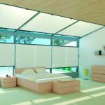 Πλισέ οροφής σε εκρού απόχρωση