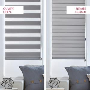 Double roller shade open close