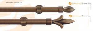 Κουρτινόβεργα bronze mat Flame - Lance
