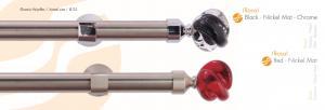 Κουρτινόβεργα Nickel mat - chrome Rosa